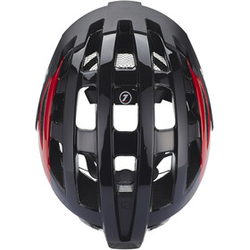 Lazer Compact Deluxe Casco, black-red